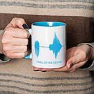 """Чашка с надписью """"Папа, я тебя люблю"""", 330 мл подарочная керамическая, фото 3"""