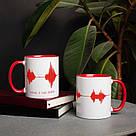 """Чашка с надписью """"Мама, я тебя люблю"""", 330 мл подарочная керамическая, фото 2"""