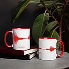 """Чашка с надписью """"I LOVE YOU"""", 330 мл подарочная керамическая, фото 2"""