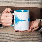 """Чашка с надписью """"I LOVE YOU"""", 330 мл подарочная керамическая, фото 3"""