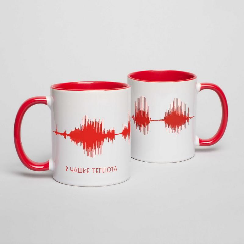 """Чашка з написом """"Картина голосом"""" персоналізована, 330 мл подарункова керамічна"""