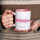 """Чашка з написом """"Картина голосом"""" персоналізована, 330 мл подарункова керамічна, фото 3"""