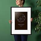 """Постер """"Звездное небо"""" персонализированный А2, фото 4"""