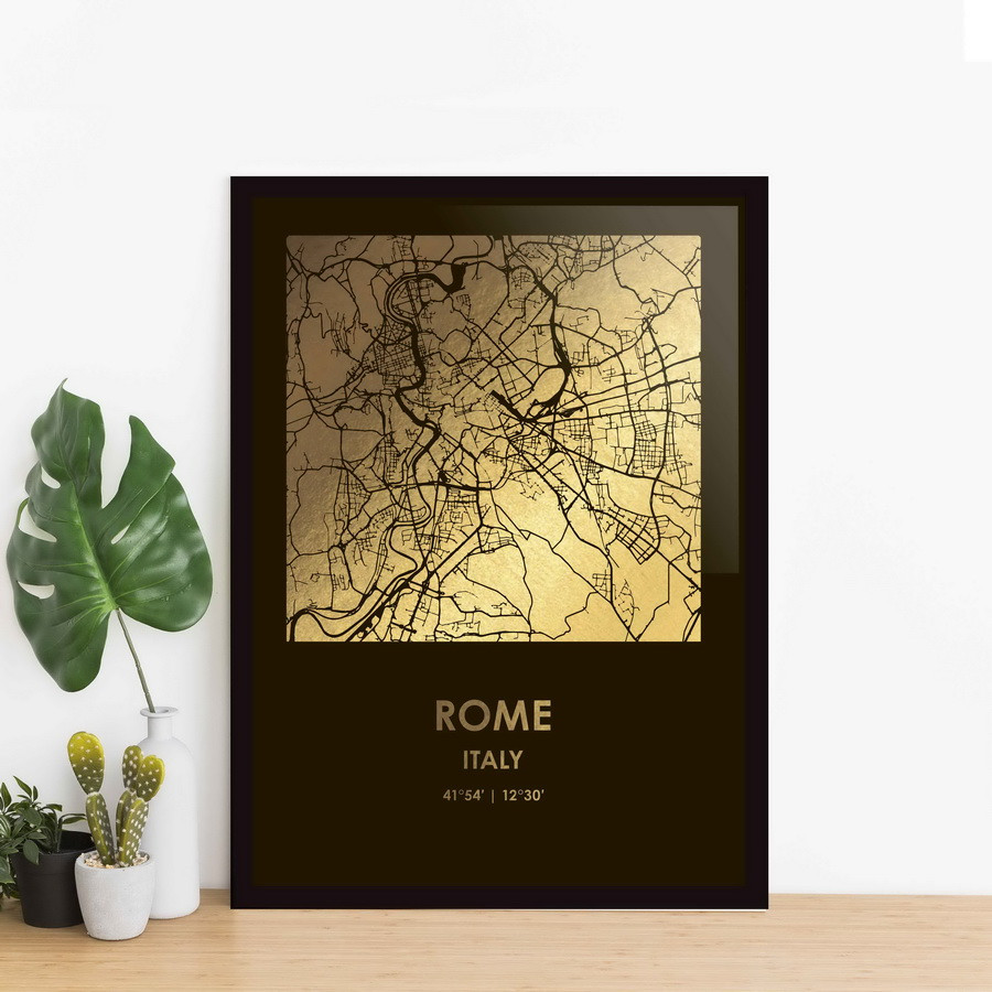 """Постер """"Рим / Roma"""" фольгированный А3"""
