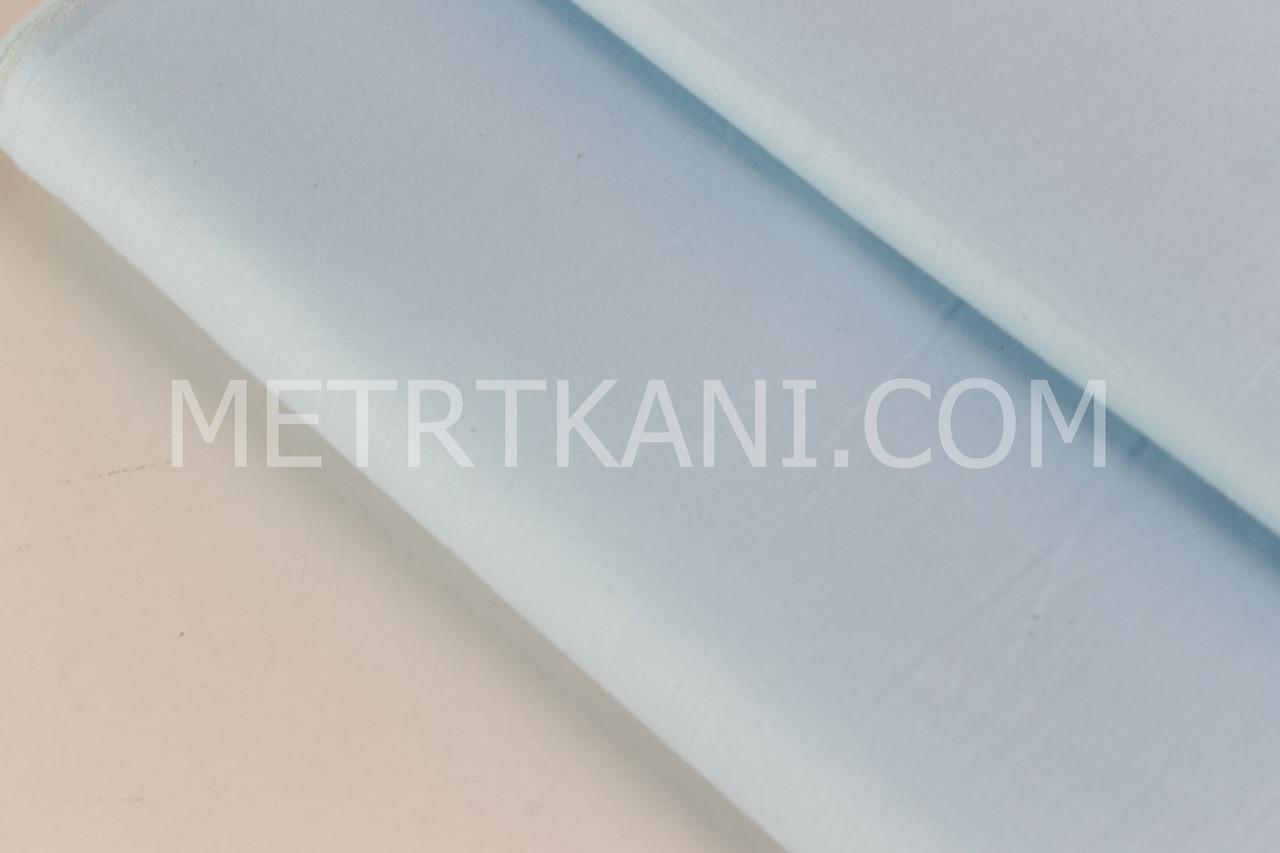 Сатин однотонный светло-бирюзового цвета № 160-218 с