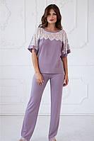 "Пижама (блузон/брюки) из вискозы ""Morganite"" качество premium"