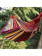 Мексиканский подвесной гамак из 100% хлопка, без планок 80x200 - для квартиры, дачи и пикников