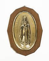 Икона Мария, Непорочное зачатие, латунь, дерево, Германия