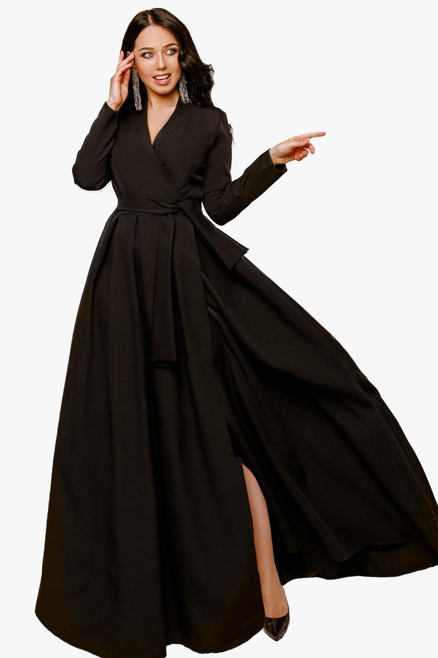 Женское платье в пол Черный