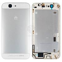 Задняя панель корпуса (крышка аккумулятора) для Huawei Ascend G7 G760-L01 Оригинал Белый С боковыми кнопками, без лотка SIM-карты
