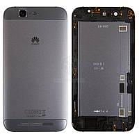 Задняя панель корпуса (крышка аккумулятора) для Huawei Ascend G7 G760-L01 Оригинал Черный С боковыми кнопками, без лотка SIM-карты