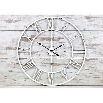 Часы настенные металлические в стиле винтаж  - Milano White 80 cm, фото 2