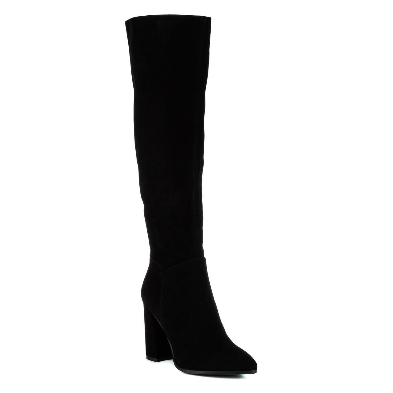 Сапоги женские VIDORCCI (натуральные, стильные на каблуке))