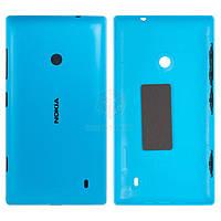 Задняя панель корпуса (крышка аккумулятора) для Nokia Lumia 520, Lumia 525 Оригинал Синий С боковыми кнопками