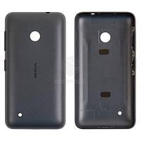 Задняя панель корпуса (крышка аккумулятора) для Nokia Lumia 530 Оригинал Черный С боковыми кнопками