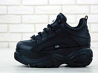 Женские кроссовки на платформе Buffalo London 1339 Black Platform Sneakers / Буффало Лондон, черные