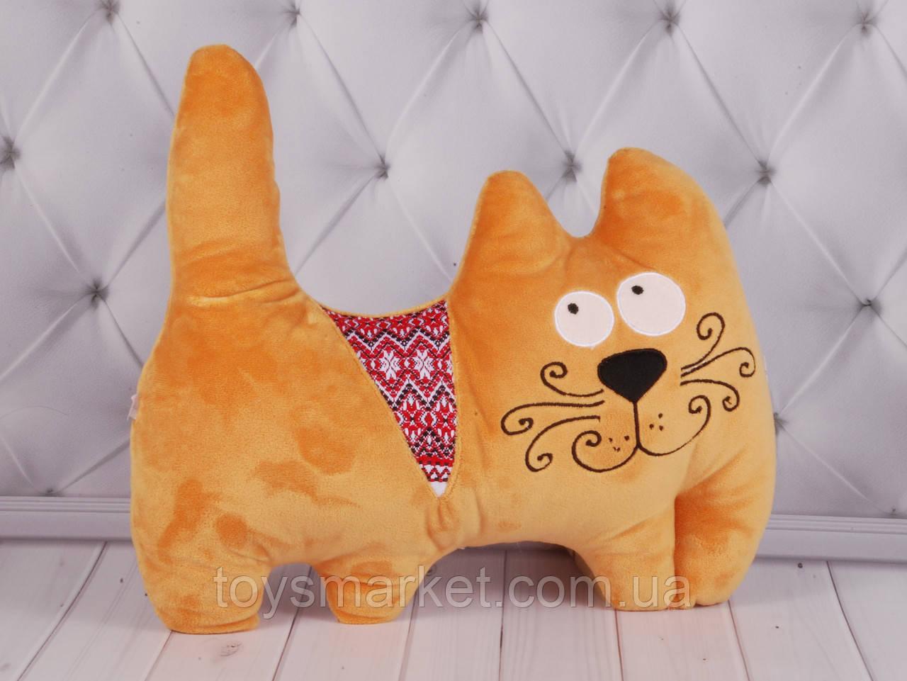 Мягкая игрушка Кот с орнаментом, украинские национальные игрушки, плюшевый кот