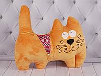 Мягкая игрушка Кот с орнаментом, украинские национальные игрушки, плюшевый кот, фото 1
