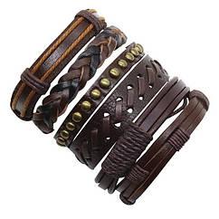 Набір шкіряних браслетів - Ковбой