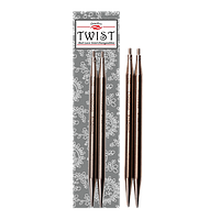 Съемные стальные спицы TWIST Lace – 13 см № 1,75 мм