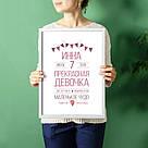 """Постер метрика """"Baby party"""" персонализированный, фото 3"""