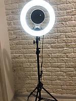 Профессиональная кольцевая светодиодная LED лампа 35 см с зеркалом и без