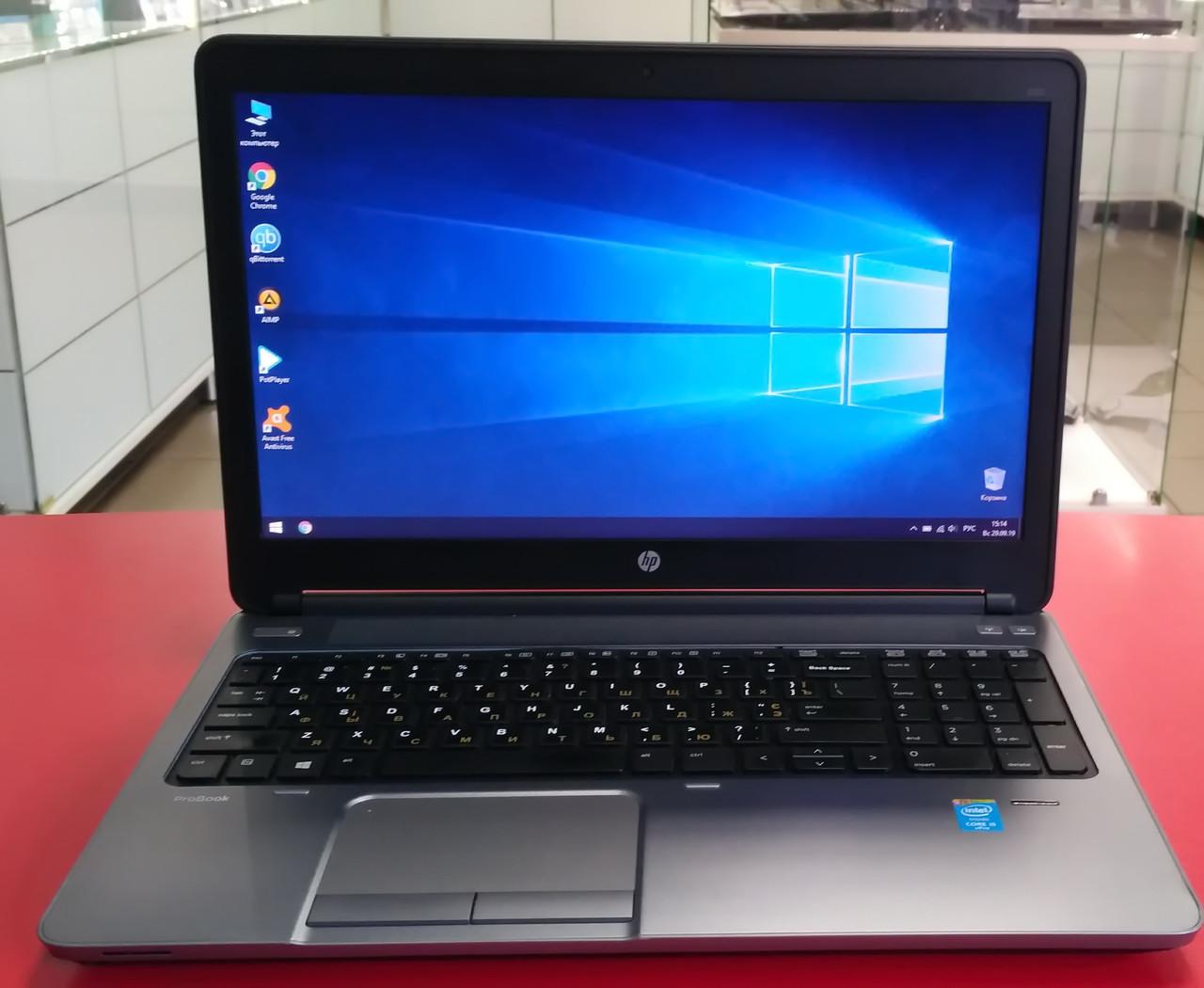 "Ноутбук HP ProBook 650 G1 15.6"" Intel Core i5 2.6 GHz 4 GB RAM 120 SSD Black-Silver Б/У"