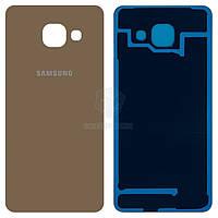 Задняя панель корпуса (крышка аккумулятора) для Samsung Galaxy A3 2016 (A310F, A310M, A310N, A310Y) Оригинал Золотистый