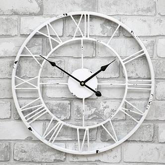 Часы настенные металлические в стиле винтаж  - Milano White 45 cm, фото 2