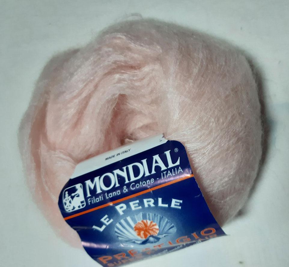 "Пряжа ""Mondial Prestigio"",цвет - нежно розовый"