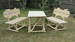 Стол деревянный,лавочка деревянная,мебель для сада,мебель из дерева,мебель для дачи.