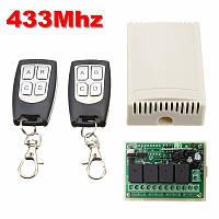 Беспроводной пульт дистанционного управления 433 мГц с модулем-приемником на 4 реле по 220 Вольт