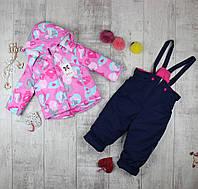 Детские комбинезоны зимние для девочки H-609, фото 1