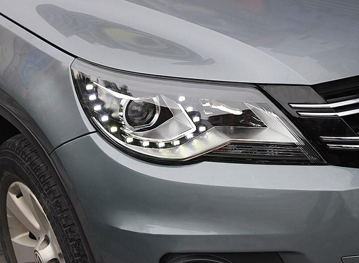 Передние фары VW Tiguan тюнинг Led оптика (OEM стиль)