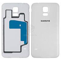 Задняя панель корпуса (крышка аккумулятора) для Samsung Galaxy S5 (G900A, G900F, G900H, G900I, G900T) Оригинал Белый