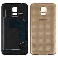 Задняя панель корпуса (крышка аккумулятора) для Samsung Galaxy S5 (G900A, G900F, G900H, G900I, G900T) Оригинал Золотистый