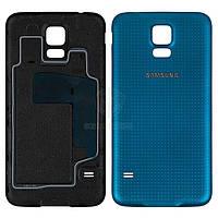 Задняя панель корпуса (крышка аккумулятора) для Samsung Galaxy S5 (G900A, G900F, G900H, G900I, G900T) Оригинал Синий