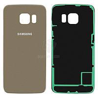 Задняя панель корпуса (крышка аккумулятора) для Samsung Galaxy S6 Edge G925F Оригинал 2.5D Золотистый
