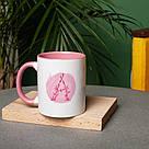 """Чашка с надписью """"Цветочная буква"""", 330 мл подарочная керамическая, фото 3"""