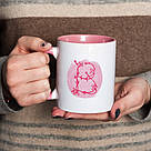 """Чашка с надписью """"Цветочная буква"""", 330 мл подарочная керамическая, фото 4"""