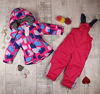 Дитячі зимові комбінезони для дівчинки J-106, фото 1