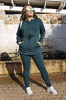 Спортивный костюм с кардиганом на молнией, с 50-56 размер, фото 1