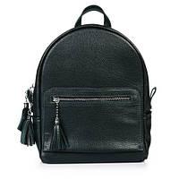 Кожаный темно-зеленый городской рюкзак