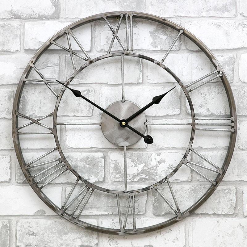 Часы настенные металлические в стиле лофт  - Milano Grey 45 cm