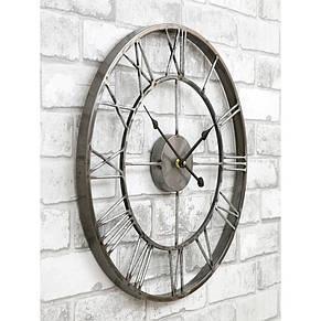 Часы настенные металлические в стиле лофт  - Milano Grey 45 cm, фото 2