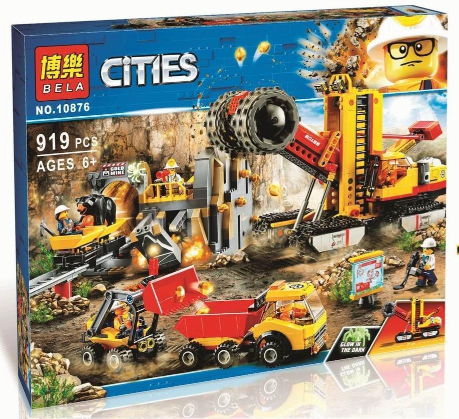 Конструктор BELA 10876 Cities Шахта (Аналог LEGO City 60188) 989 дет