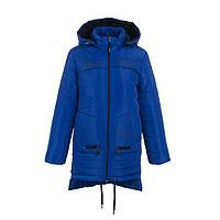 Куртка детская для девочки зимняя/демисезонная Лаки 128,134,140,146см подкладка овчина отстегивается ЕЛЕКТРИК