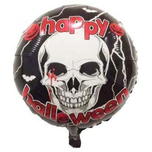 """Фольгована кулька коло хелловін з черепом 18"""" Китай"""