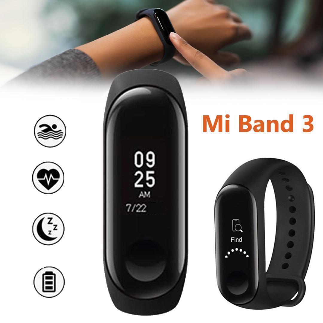 🔥 Фитнес-браслет Mi Band M3 с цветным экраном (черный, красный, синий) в стиле