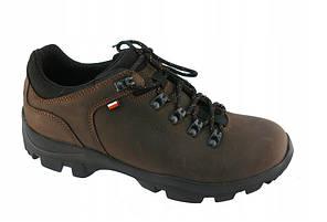 Коричневые мужские треккинговые ботинки из натуральной кожи,р. 38-46